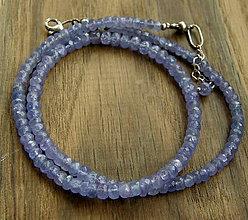 Náhrdelníky - Tanzanitový náhrdelník - 9314359_