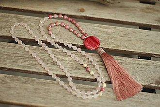 Náhrdelníky - Mala náhrdelník z minerálov a strapcom - 9311719_