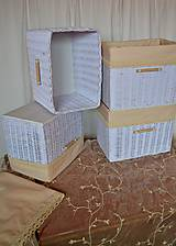 Košíky - Šatníkové boxy SILVIA / ks - 9313278_
