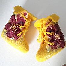 Topánočky - Vlnené plstené topánočky pre novorodenca - 9312926_