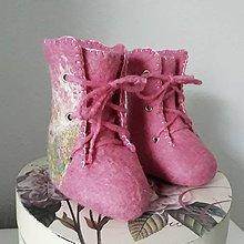 Topánočky - Vlnené plstené kapčeky - 9312985_