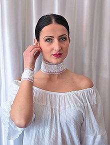 Sady šperkov - Biela folklórna súprava - 9314033_