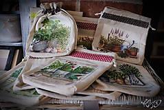 Úžitkový textil - Vrecká na bylinky - MIX - 9318584_