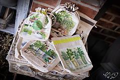 Úžitkový textil - Vrecká na bylinky - MIX - 9318586_