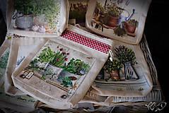 Úžitkový textil - Vrecká na bylinky - MIX - 9318587_