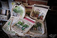 Úžitkový textil - Vrecká na bylinky - MIX - 9318588_