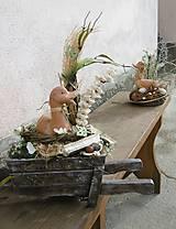 Dekorácie - Jarná dekorácia s kačkou na fúriku - 9318795_
