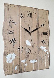 Hodiny - Nástenné hodiny - kvety v piesku II - 9316619_
