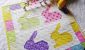 Úžitkový textil - Rainbow Bunnies ... obrus - 9316996_