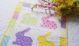 Úžitkový textil - Rainbow Bunnies ... obrus - 9316998_