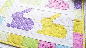 Úžitkový textil - Rainbow Bunnies ... obrus - 9316999_