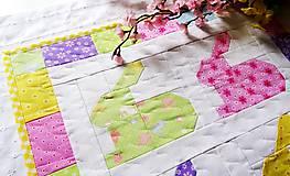 Úžitkový textil - Rainbow Bunnies ... obrus - 9317002_