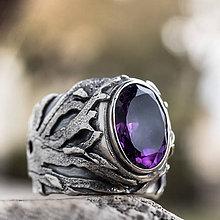 Prstene - Stromy strážcovia ... s ametystom - 9315853_