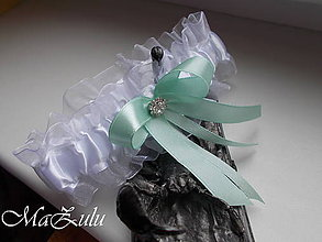 Bielizeň/Plavky - svadobný podväzok s vôňou mentolu - 9318927_