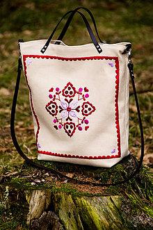 Veľké tašky - Vyšívaná taška Živena - 9319162_