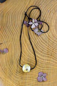 Náhrdelníky - náhrdelník Gorálka (1 cm - Béžová) - 9316403_