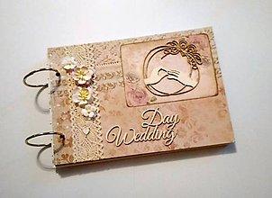 Papiernictvo - Vintage svadobný album A5 - 9317953_