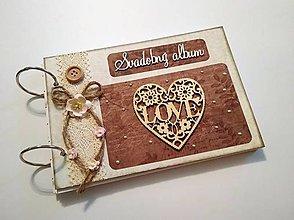 Papiernictvo - Fotoalbum * svadobný album A5 - 9318040_