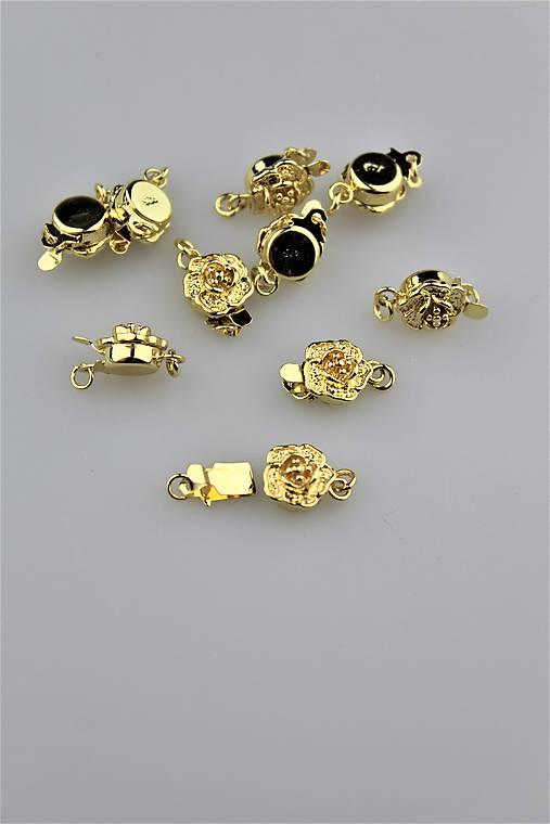 Zapínanie na náramky náhrdelníky luxusné zlaté   Sima-polodrahokamy ... c6d697e8574