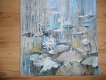 Obrazy - Zátišie na jazere - 9318196_