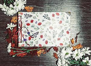 Papiernictvo - Fotoalbum klasický s ilustráciou kvetiniek (dočasne nedostupné) - 9316893_
