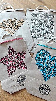 Papiernictvo - Sada 7 kusov EKO darčekových tašiek - 9316014_