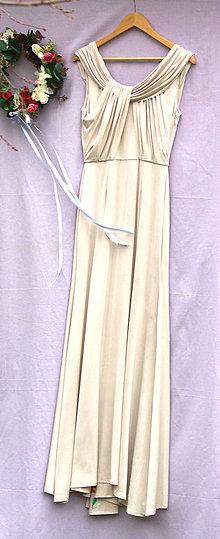 Šaty - Nádherné svadobné šaty s ručne maľovanou vlečkou-