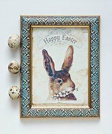 Rámiky - Zajac barokový rámik - 9316302_