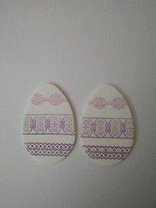 Dekorácie - veľkonočné vajíčko na zavesenie (Fialová) - 9318861_
