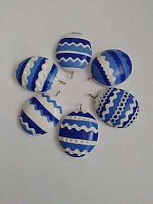 Dekorácie - modré veľkonočné vajíčka - 9318906_