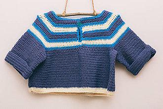 Detské oblečenie - Svetrík pre veselú námorníčku - 9316308_