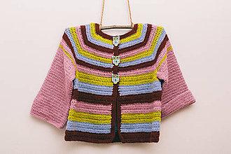 Detské oblečenie - Háčkovaný svetrík sovička - 9316319_
