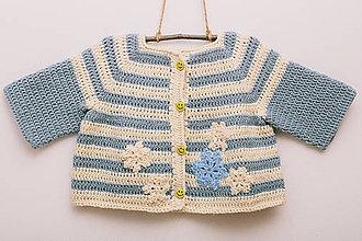 Detské oblečenie - Háčkovaný svetrík snehovej kráľovnej - 9316327_