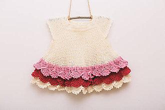Detské oblečenie - Hačkované šaty pre Palculienku - 9316336_