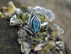 Prstene - Strieborny prsteň Ag925 Labradorit - 9317496_