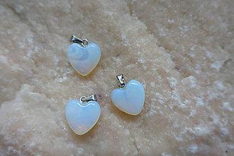 Komponenty - Opalit prívesok srdce - 9318677_