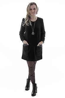 Šaty - Teplákové šaty s vreckami - 9317198_