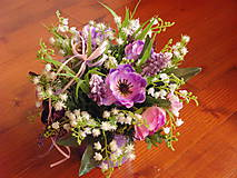 Dekorácie - Jarná aj celoročná fialková dekorácia v keramike - 9315903_
