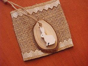 """Dekorácie - Veľkonočné drevené """"vajíčko"""" so zajačikom - 9315849_"""