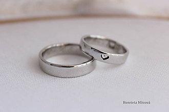 Prstene - minimalistické obrúčky (Zlatá) - 9316426_