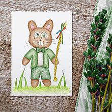 Kresby - Veľkonočné zajace kresby - 9318057_