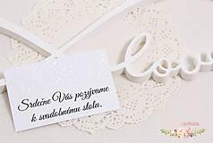 Papiernictvo - Pozvánka k svadobnému stolu I - 9322803_