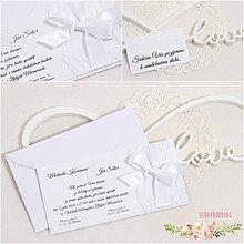 Papiernictvo - Svadobné oznámenie XIII - 9322774_
