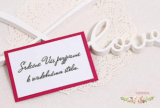 Papiernictvo - Pozvánka k svadobnému stolu II - 9322814_