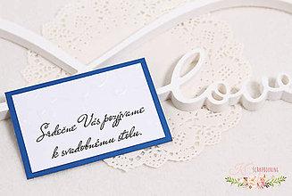 Papiernictvo - Pozvánka k svadobnému stolu - 9322824_