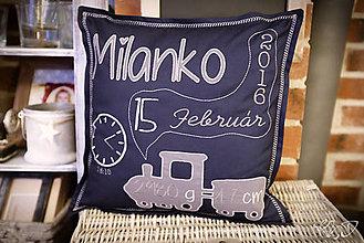 """Úžitkový textil - Vankúšik """"Milanko"""" - 9323074_"""