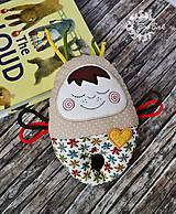Hračky - Vesmírny chrobáčik béžový - hrkálka - 9321668_