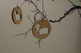 Dekorácie - Drevená dekorácia - ovečka - 9321231_