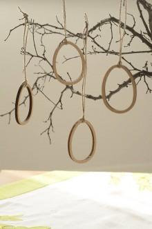 Dekorácie - Drevená dekorácia - vajíčka - 9321273_