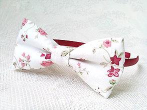 Ozdoby do vlasov - Romantic headband (white/flowers) - 9322655_